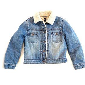 GAP | Boy's Vintage Denim Shearling Jacket